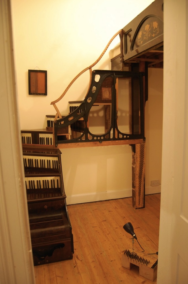 Pianos Turned into a Staircase