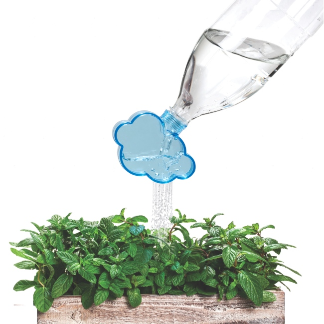 Rainmaker Plant Watering Cloud Turns Bottles into Watering Cans