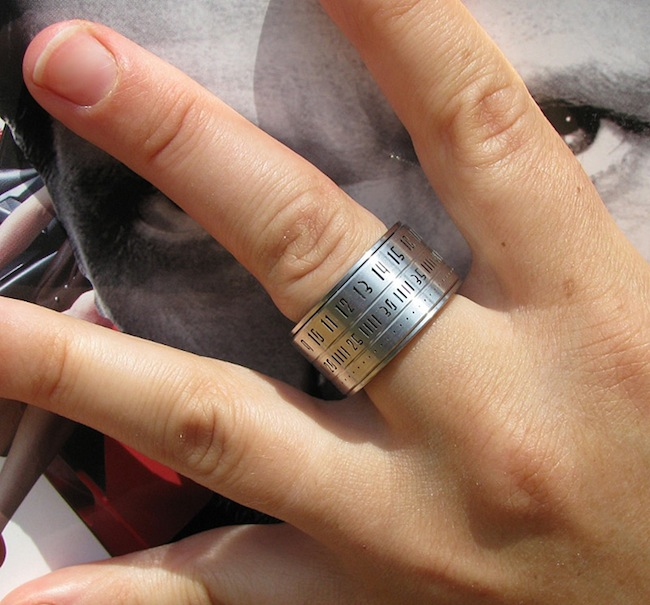 ring clock on finger