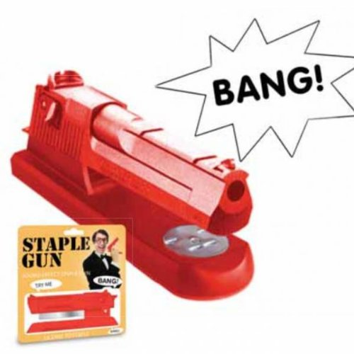 Staple Gun Stapler with Bang Sound Effect