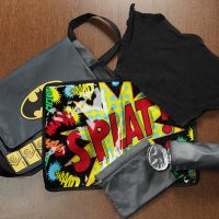 batman diaper bag splat