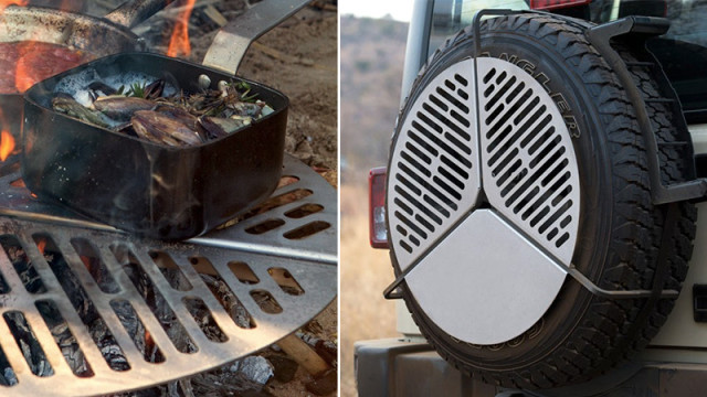 A Cooking Grate that Fits on a Spare Tire