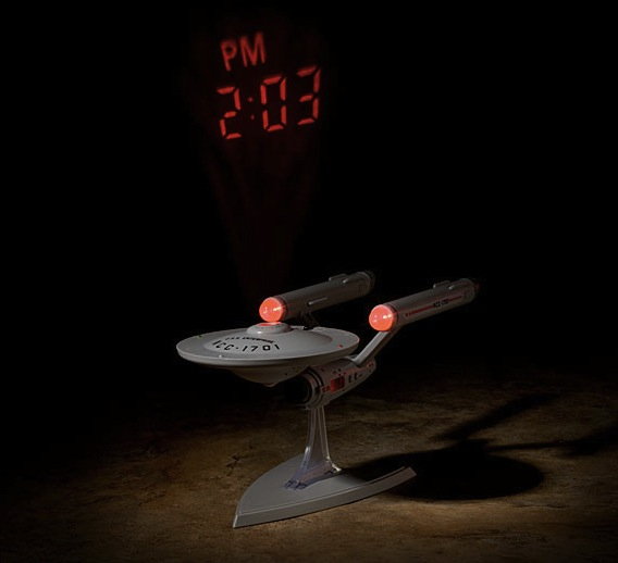 star trek projection alarm Star Trek Enterprise Projecting Alarm Clock