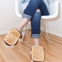 usb heated smores slippers