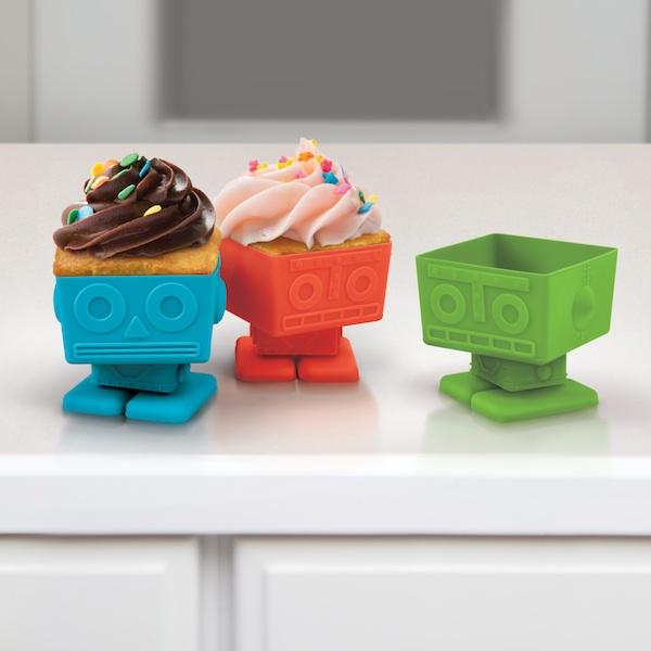 Yumbot Robot Cupcake Molds