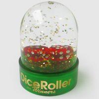 dice roller snow globe
