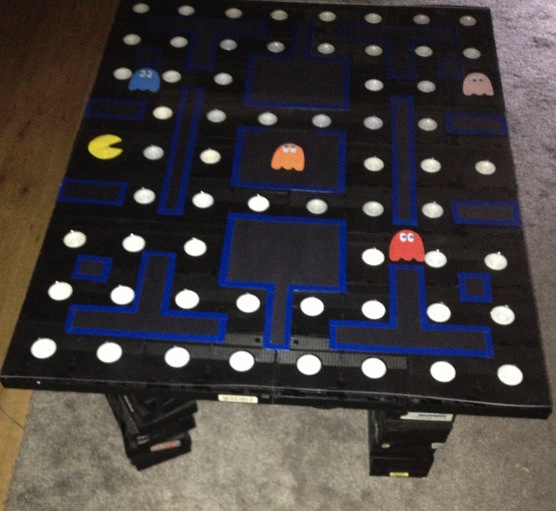 pac-man vhs tape coffee table
