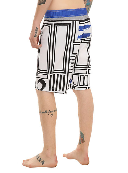 r2d2 swim trunks back R2 D2 Mens Swim Trunks