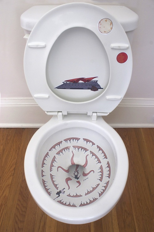 sarlacc toilet stickers