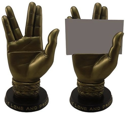 spock hand card holder