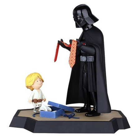 Star Wars Vader and Son and Vader's Little Princess Figurines