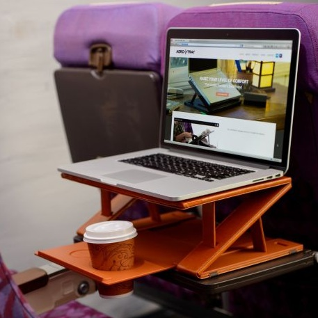 Aero-Tray for Better Airplane Laptop Usage