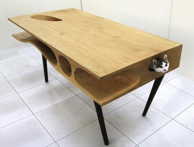 CATable is the Table with a Spot for your Kitty