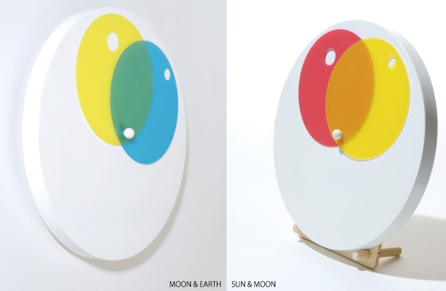 moon earth sun clock