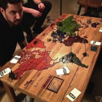 Game of Risk Carved Into a Coffee Table