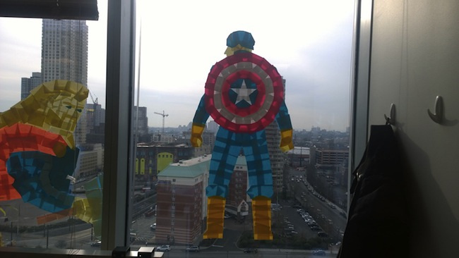 captain america post it