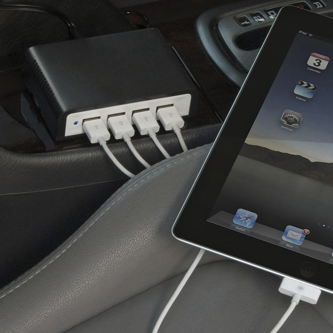 Charge 4 USB Devices at Once…In Your Car