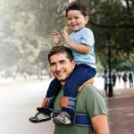 SaddleBaby: Hands-Free Child Shoulder Carrier