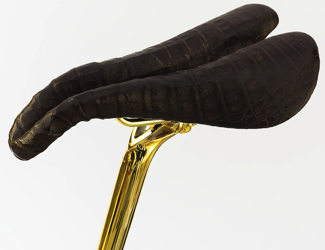 solid gold bike seat