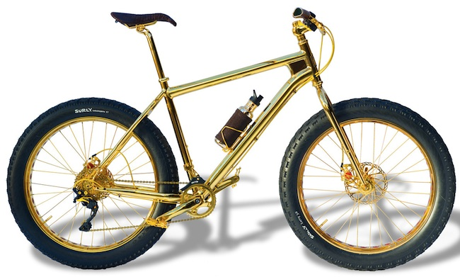 solid gold bike side