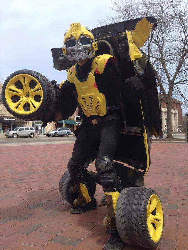 Transformers Costume that Actually Drives
