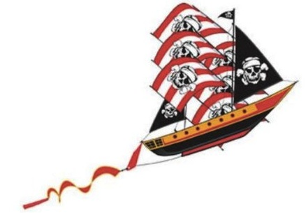 3d pirate ship kite