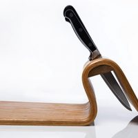 cutting board knife block