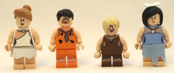 flinstones lego minifigs