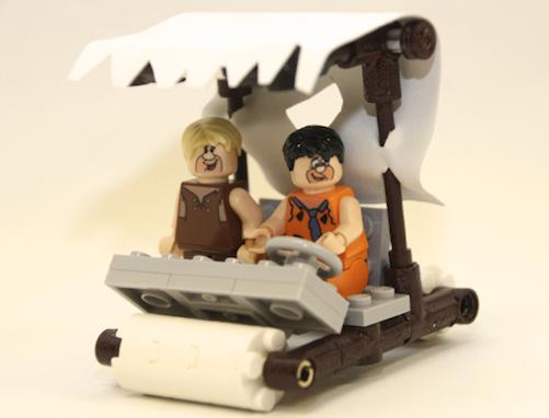 flintstones lego car
