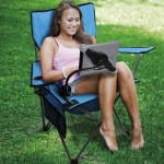 Camping Chair with iPad Holder