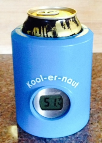 Beer Koozie with a Thermometer