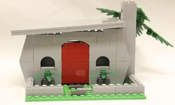 lego flintstones house