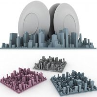 manhattan skyline dishrack