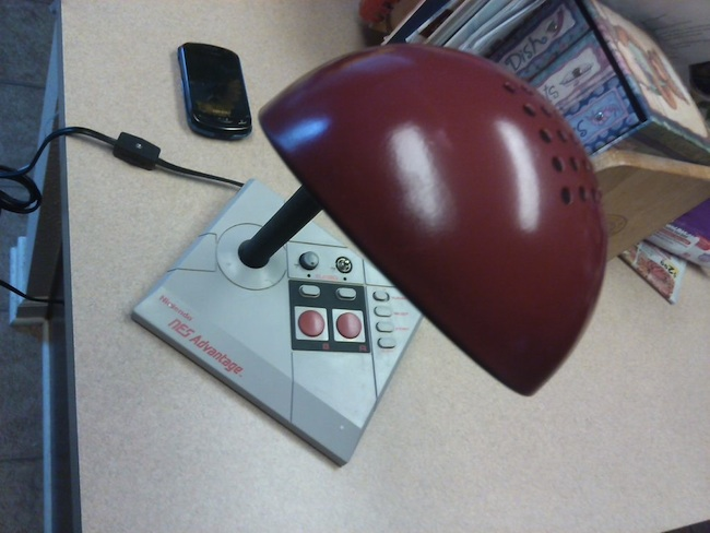NES Advantage Turned Desk Lamp