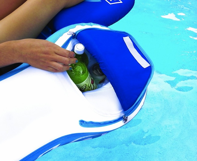 pool lounger drink cooler