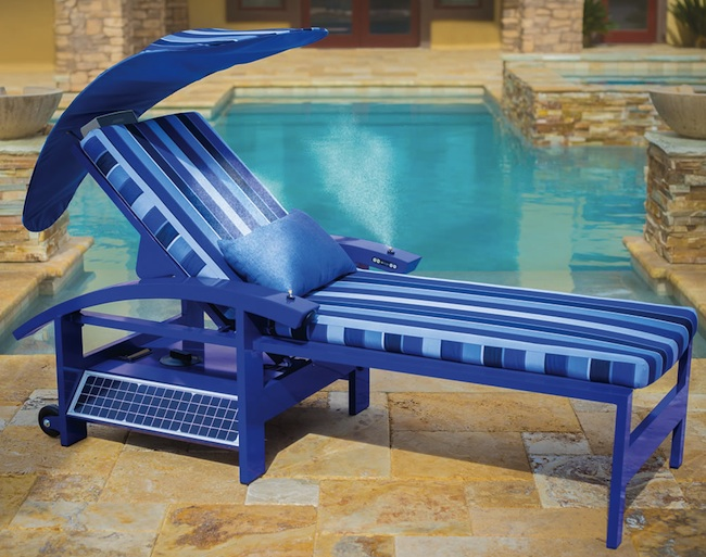 Solar Powered Lounge Chair