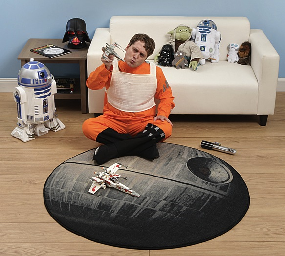 death star rug in use