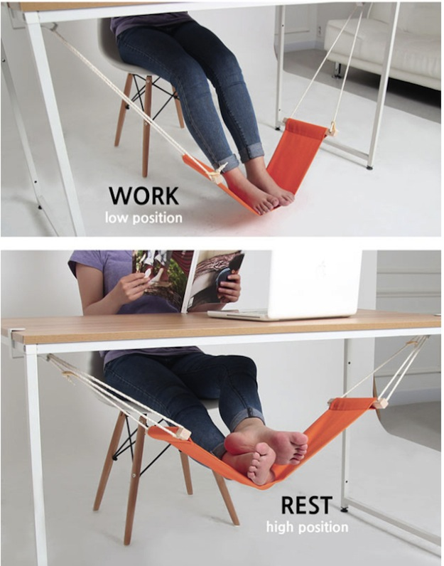 foot rest work position