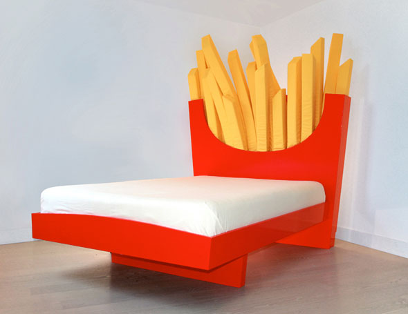 french fry bed