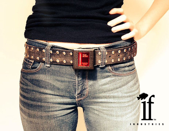 light up arcade belt buckle