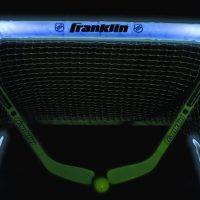 lit up hockey net