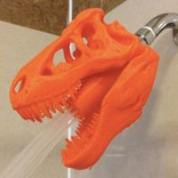 3d dinosaur shower head