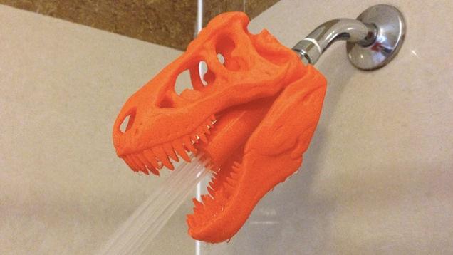 3d dinosaur shower head