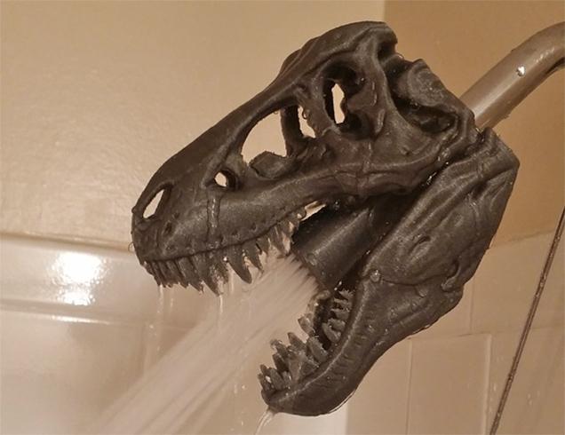 dinosaur shower head