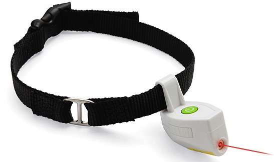 Pet Collar with a Laser Pointer