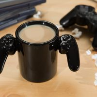 game over mug in action