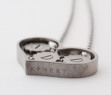 kinekt gear necklace