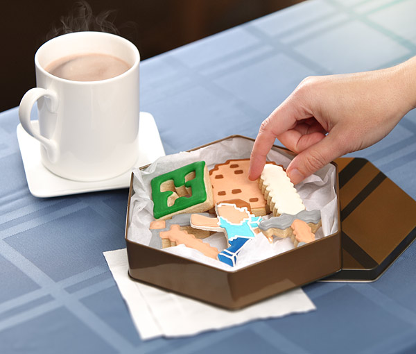 minecraft cookie tin