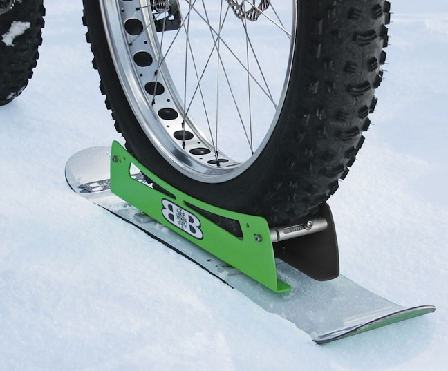 bicycle ski closeup