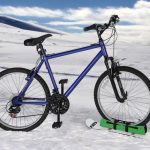 Snowboard Bicycle Attachment